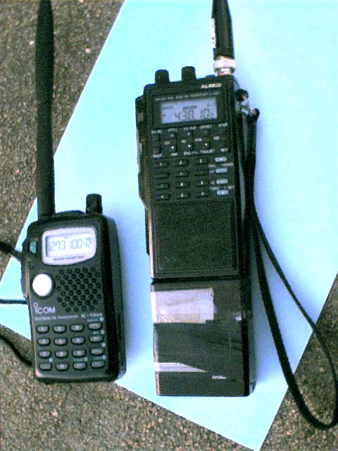 Icom IC-T81A and Alinco DJ-500T